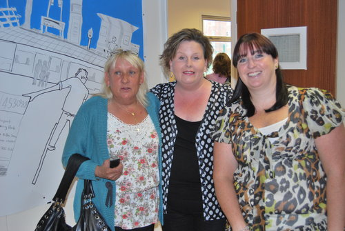 Marian Kelly, Veronica Lally and Ann-Marie McNally at the Dolphin decides launch summer 2009